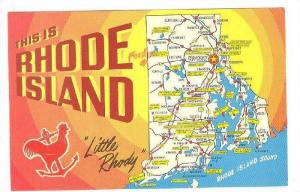 This Is Rhode Island, Little Rhody, Rooster and Anchor, Map showing main ci...