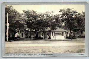Walla Walla Washington~Wayside Tourist Court~Office~Cottages~1940s Silver Border
