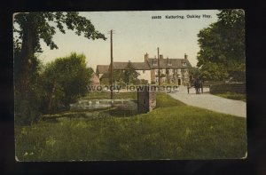 TQ3295 - Northants - The little Pond at Oakley Hay in Kettering - postcard