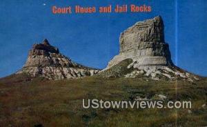 Court House & Jail Rocks Bridgeport NE Unused