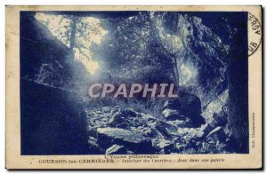 Old Postcard Courson les Carrieres Interior of Career Day in a gallery