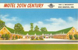 Memphis Arkansas Motherl 20th Century Street View Antique Postcard K18911