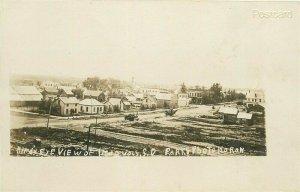SD, Iroquois, South Dakota, Birds Eye View, W.S. King, RPPC