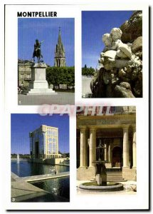 Postcard Modern colors and light of the Montpellier Herault Sainte Anne If I ...