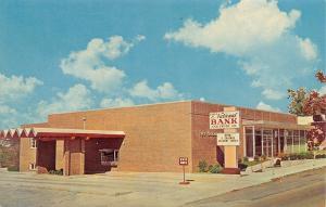 Mountain Home Arkansas~First National Bank~Drive Up Window~1960s Postcard