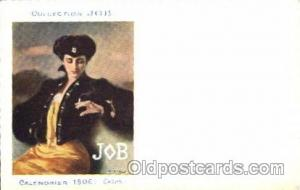 Job Cigarette Advertising Artist Casas Postcard Post Card Unused