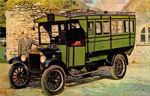 Postcard, Vintage Car 1921 Ford Model TT Bus, Montagu Motor Museum 78S