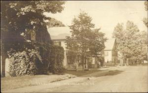 Hinsdale NH Canal Street c1910 Real Photo Postcard