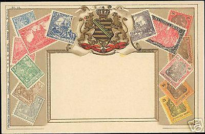 Germany Saxony, STAMP Postcard (1910s) Deutsches Reich