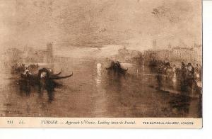 Postal 027121 : Turner, Approach to Venice. Looking towards Fusind. The Natio...