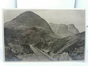 Vintage RP Postcard The Three Sisters of Glen Coe from above the Gorge Scotland