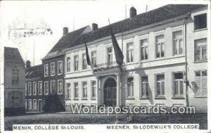 Menin, France, Carte, Postcard College St Louis Menin College St Louis