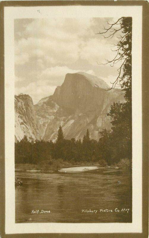 Frame  California Yosemite California NP Half Dome Pillsbury Postcard 20-3112