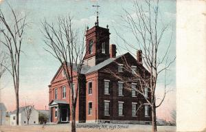 Somersworth New Hampshire~High School Building~Houses in Background~1912 Pc