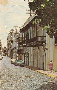 Puerto Rico Old San Juan Street Cristo Chapel In Background sk4385