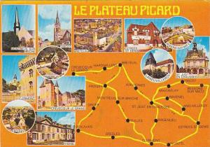 Map Of Le Plateau Picard Oise France Multi View