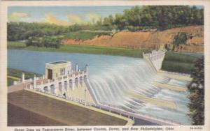 Ohio New Philadelphia Dover dam and Tuscarawas River Curteic