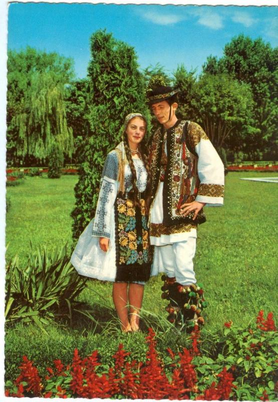 Romania, Folk Costumes of the Mures Valley, unused Postcard