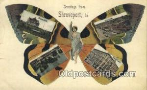 Greetings from Shreveport LA USA Old Vintage Antique Postcard Post Card  Gree...