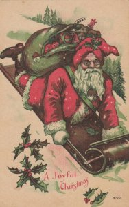 CHRISTMAS Santa Claus on toy sled , 00-10s