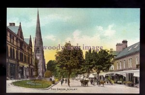 tp2221 - Yorkshire - Early view of The Grove, & Church, in Ilkley - postcard