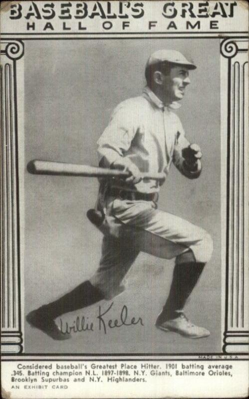 Baseball Great Hall of Game Exhibit Card Willie Keeler