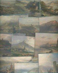 pc744 postcard Gemany TWELVE 10 MOBSC 2 postally used Castles