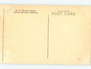 Unused Divided-Back STANFORD UNIVERSITY CHURCH Palo Alto - Near Jose CA A8544