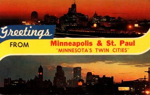 Minnesota Greetings From Minneapolis & St Paul The Twin Cities