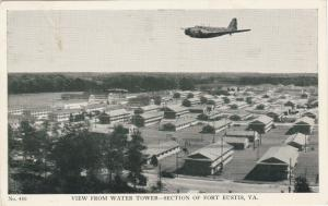 FORT EUSTIS , Virginia , PU-1942; View from Water Tower, Plane