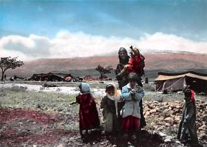 Bedouin with her Children, Lebanon Postcard, Carte Postale Bedouin with her C...