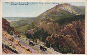 Colorado Colorado Springs Cheyenne Mount From Point Sublime Corley Mountain H...