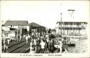 Caimanera Cuba Crowded Wharf Scene Real Photo Postcard spg