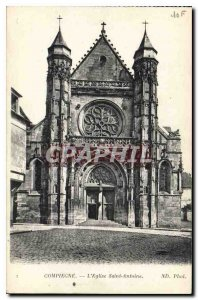 Postcard Compiegne Old Church St. Anthony