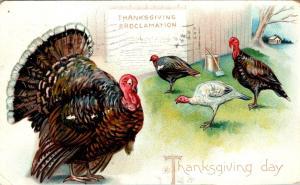 Thanksgiving With Turkey 1907 Tucks