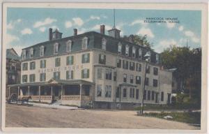 ELLSWORTH Maine - HANCOCK HOUSE HOTEL 1920s era STREET VIEW