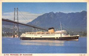 Canada C.P.R. Princess of Nanaimo ship schiff