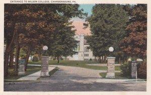 CHAMBERSBURG, Pennsylvania, 1910s; Entrance to Wilson College