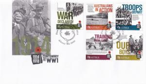 Century of The Great War FDC WW1 1914 1918 Albany WA First Day Cover