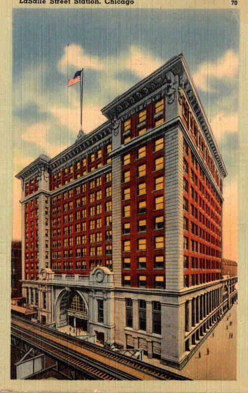 Illinois Chicago LaSalle Street Station 1941