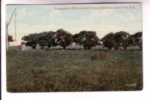 Evangeline's Well and Old French Willows, Grand Pre, Nova Scotia,