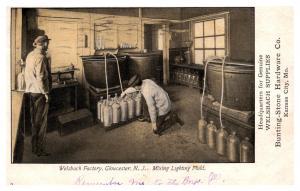 New Jersey  Gloucester ,  Welsbach Factory , Mixing Lighter Fluid,