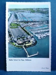 Postcard CA San Diego Shelter Island Tinted Real Photo