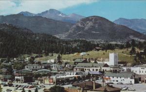 Main Street of ESTES PARK, Colorado, Long's Peak, near eastern entrance to Ro...