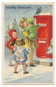 Happy New Year Gelukkig nieuwjaar Postcard 01.15