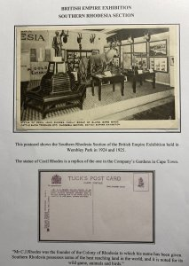 Mint England Real Picture Postcard Statue Of Cecil Rhodes British Exhibition