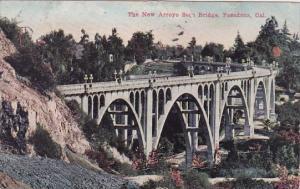 California Pasadena The New Arroyo Seco Bridge 1917