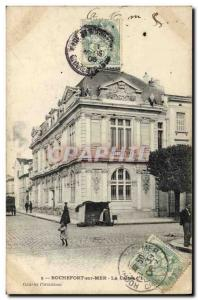 Old Postcard Bank Caisse d & # 39Epargne Rocherfort Sea