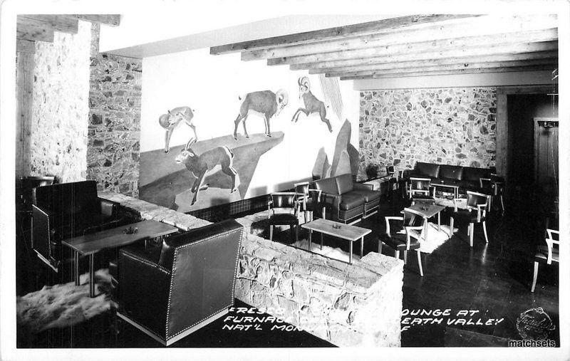 1940s Cocktail Lounge Interior Furnace Creek Frasher Death Valley Inyo RPPC