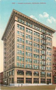 Portland Oregon~Corbett Building ~Fire Escapes~Imploded 2010~1910 Postcard